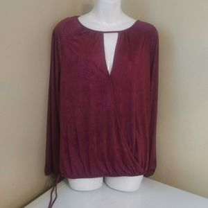 4 FOR 30 SALE Artizan burgandy top